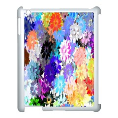 Flowers Colorful Drawing Oil Apple iPad 3/4 Case (White)