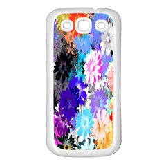 Flowers Colorful Drawing Oil Samsung Galaxy S3 Back Case (white)