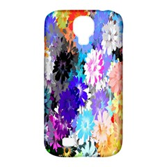Flowers Colorful Drawing Oil Samsung Galaxy S4 Classic Hardshell Case (PC+Silicone)