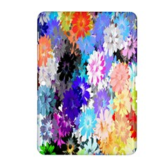 Flowers Colorful Drawing Oil Samsung Galaxy Tab 2 (10.1 ) P5100 Hardshell Case