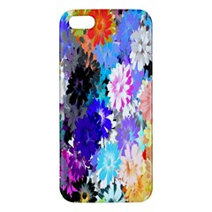 Flowers Colorful Drawing Oil iPhone 5S/ SE Premium Hardshell Case