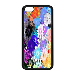 Flowers Colorful Drawing Oil Apple Iphone 5c Seamless Case (black)