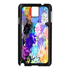 Flowers Colorful Drawing Oil Samsung Galaxy Note 3 N9005 Case (Black)