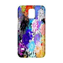 Flowers Colorful Drawing Oil Samsung Galaxy S5 Hardshell Case