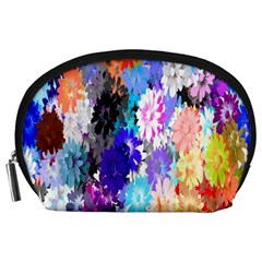 Flowers Colorful Drawing Oil Accessory Pouches (Large)