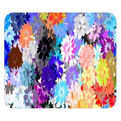 Flowers Colorful Drawing Oil Double Sided Flano Blanket (Small)