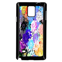 Flowers Colorful Drawing Oil Samsung Galaxy Note 4 Case (black)