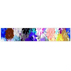 Flowers Colorful Drawing Oil Flano Scarf (large)
