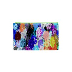Flowers Colorful Drawing Oil Cosmetic Bag (xs)