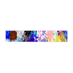 Flowers Colorful Drawing Oil Flano Scarf (mini)