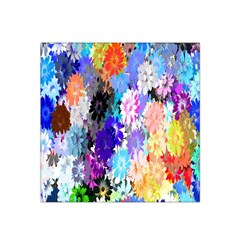 Flowers Colorful Drawing Oil Satin Bandana Scarf
