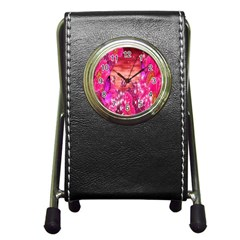 Flowers Neon Stars Glow Pink Sakura Gerberas Sparkle Shine Daisies Bright Gerbera Butterflies Sunris Pen Holder Desk Clocks