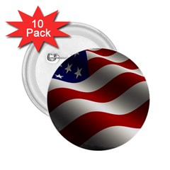 Flag United States Stars Stripes Symbol 2.25  Buttons (10 pack)
