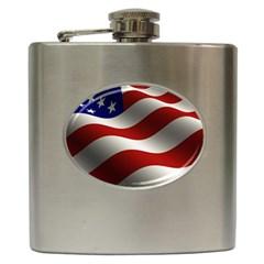 Flag United States Stars Stripes Symbol Hip Flask (6 oz)