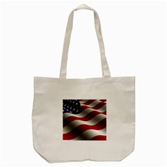 Flag United States Stars Stripes Symbol Tote Bag (Cream)