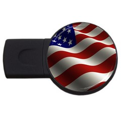 Flag United States Stars Stripes Symbol Usb Flash Drive Round (4 Gb)
