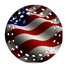 Flag United States Stars Stripes Symbol Ornament (Round Filigree)