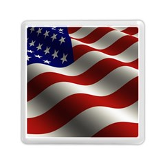 Flag United States Stars Stripes Symbol Memory Card Reader (square)