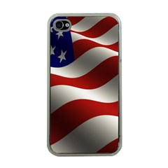 Flag United States Stars Stripes Symbol Apple iPhone 4 Case (Clear)