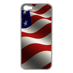 Flag United States Stars Stripes Symbol Apple iPhone 5 Case (Silver)
