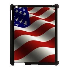 Flag United States Stars Stripes Symbol Apple iPad 3/4 Case (Black)