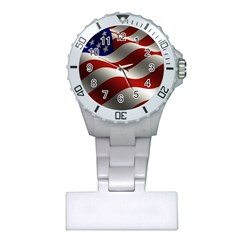 Flag United States Stars Stripes Symbol Plastic Nurses Watch
