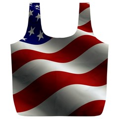 Flag United States Stars Stripes Symbol Full Print Recycle Bags (L)