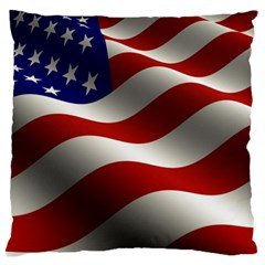 Flag United States Stars Stripes Symbol Large Flano Cushion Case (one Side)