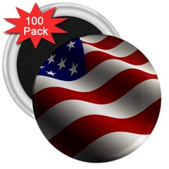 Flag United States Stars Stripes Symbol 3  Magnets (100 Pack)