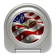 Flag United States Stars Stripes Symbol Travel Alarm Clocks