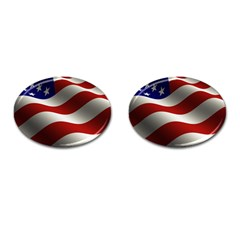 Flag United States Stars Stripes Symbol Cufflinks (Oval)