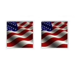 Flag United States Stars Stripes Symbol Cufflinks (square)