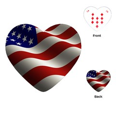 Flag United States Stars Stripes Symbol Playing Cards (Heart)