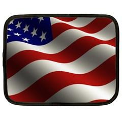 Flag United States Stars Stripes Symbol Netbook Case (xxl)