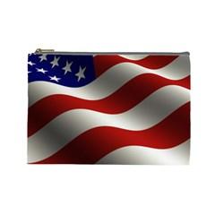 Flag United States Stars Stripes Symbol Cosmetic Bag (Large)