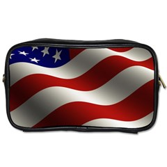 Flag United States Stars Stripes Symbol Toiletries Bags 2-Side