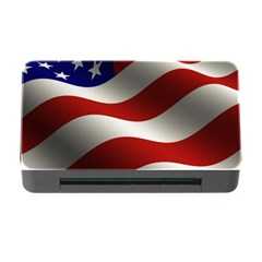 Flag United States Stars Stripes Symbol Memory Card Reader with CF