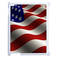 Flag United States Stars Stripes Symbol Apple iPad 2 Case (White)
