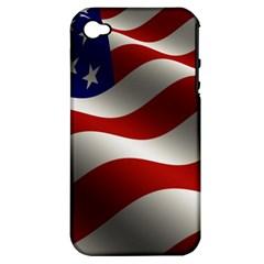 Flag United States Stars Stripes Symbol Apple iPhone 4/4S Hardshell Case (PC+Silicone)
