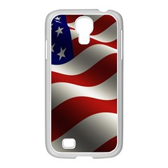 Flag United States Stars Stripes Symbol Samsung GALAXY S4 I9500/ I9505 Case (White)