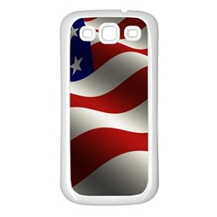 Flag United States Stars Stripes Symbol Samsung Galaxy S3 Back Case (White)