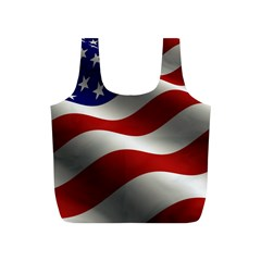 Flag United States Stars Stripes Symbol Full Print Recycle Bags (S)