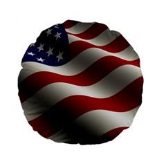 Flag United States Stars Stripes Symbol Standard 15  Premium Flano Round Cushions