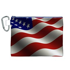 Flag United States Stars Stripes Symbol Canvas Cosmetic Bag (XL)