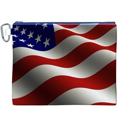 Flag United States Stars Stripes Symbol Canvas Cosmetic Bag (XXXL)