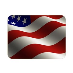 Flag United States Stars Stripes Symbol Double Sided Flano Blanket (Mini)