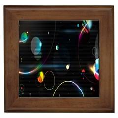 Glare Light Luster Circles Shapes Framed Tiles