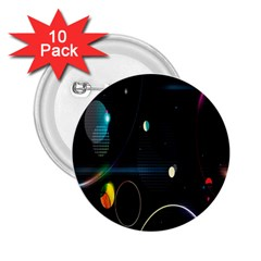 Glare Light Luster Circles Shapes 2.25  Buttons (10 pack)