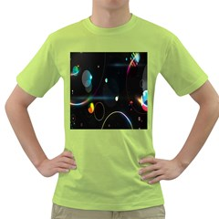 Glare Light Luster Circles Shapes Green T-Shirt
