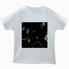 Glare Light Luster Circles Shapes Kids White T-Shirts